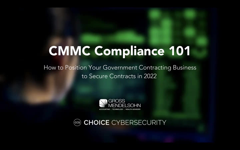 6-15-21 RECORDING CMMC 101 Webinar