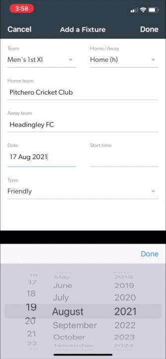 Add a new friendly fixture