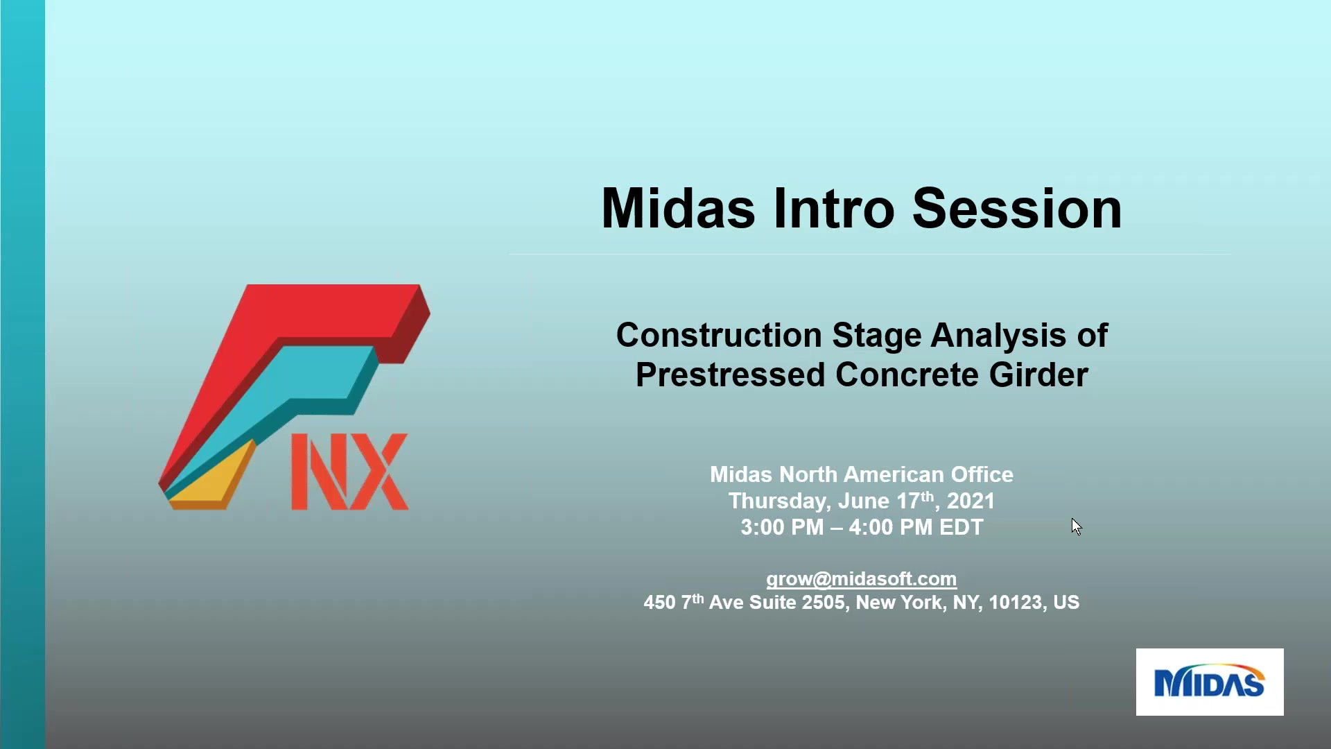 Midas Intro Session_  Construction Stage Analysis of Prestressed Concrete Girder