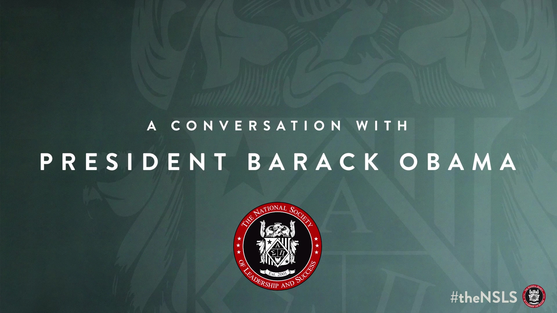 NSLS _ A Conversation with President Barack Obama (post broadcast)