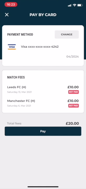 Club app _ pay multiple match fees _ with cursor