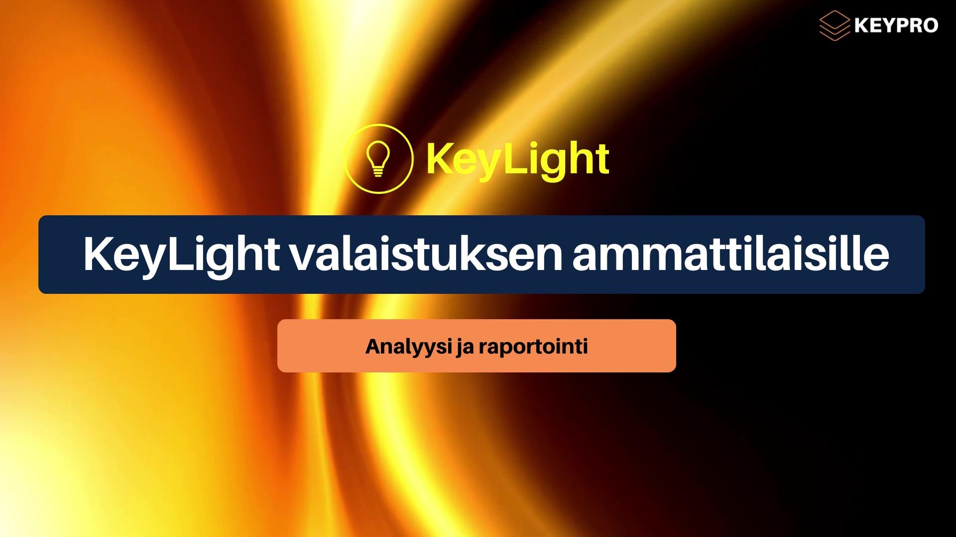 KeyLight FI marketing video 2021