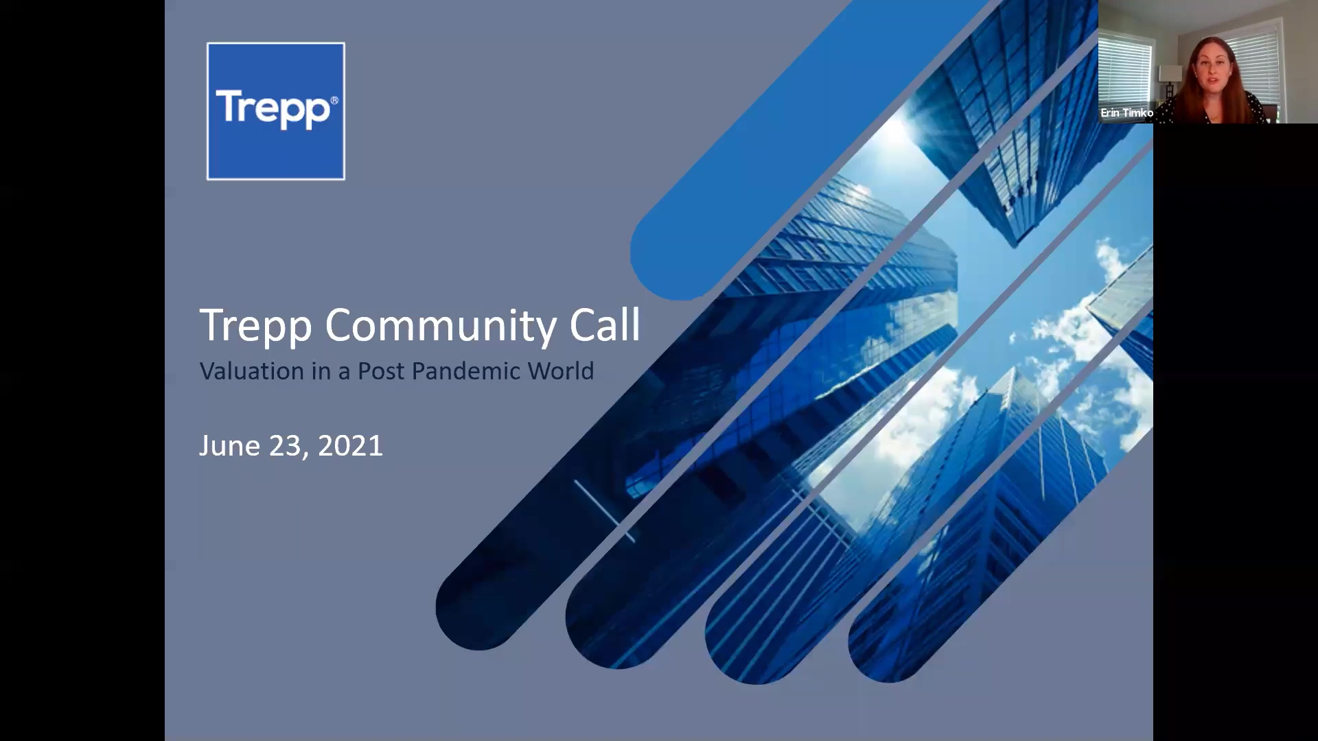 Trepp Community Call Appraisal Review - Valuation in a Post Pandemic World