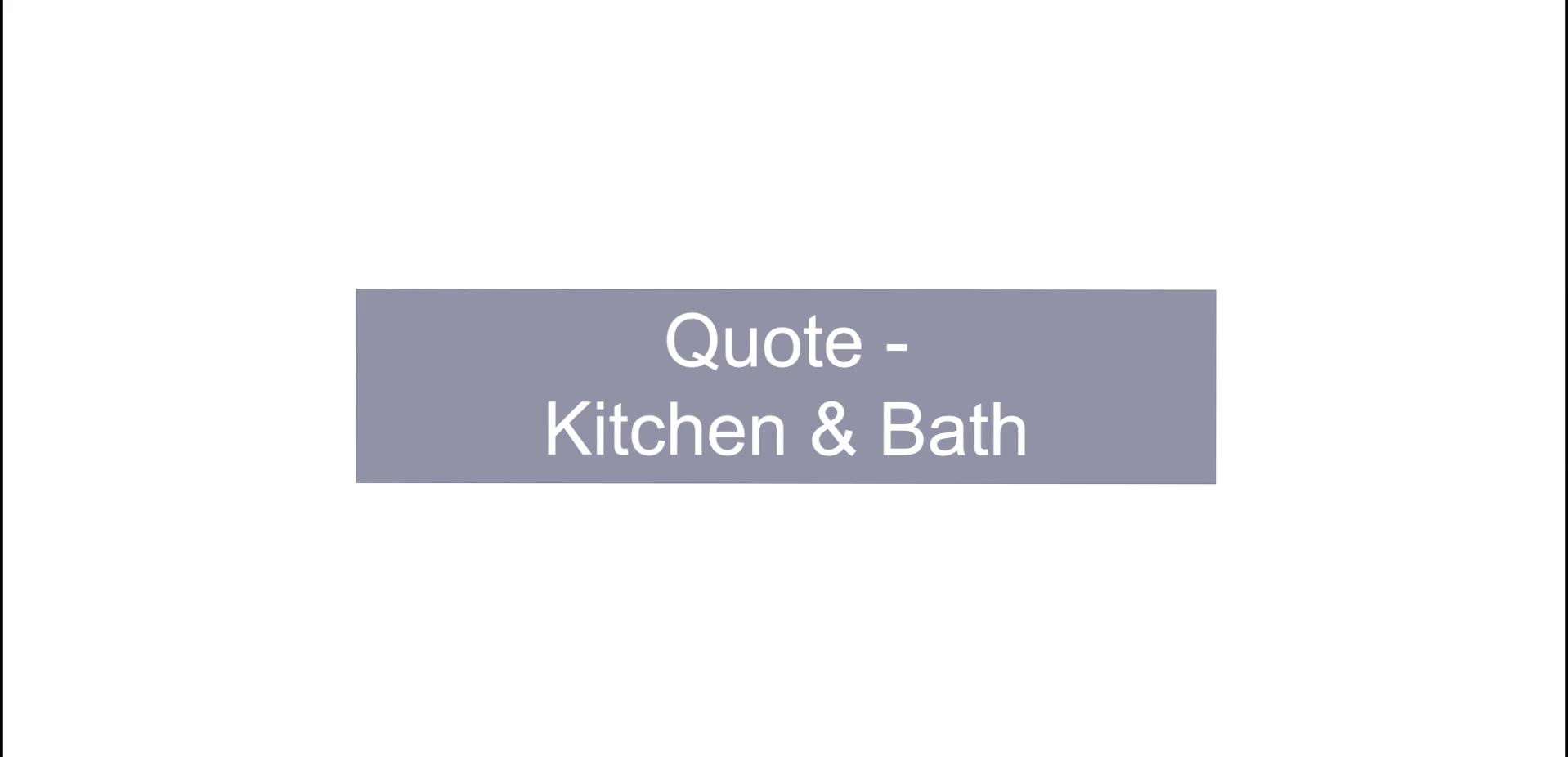 KB Design - Quote