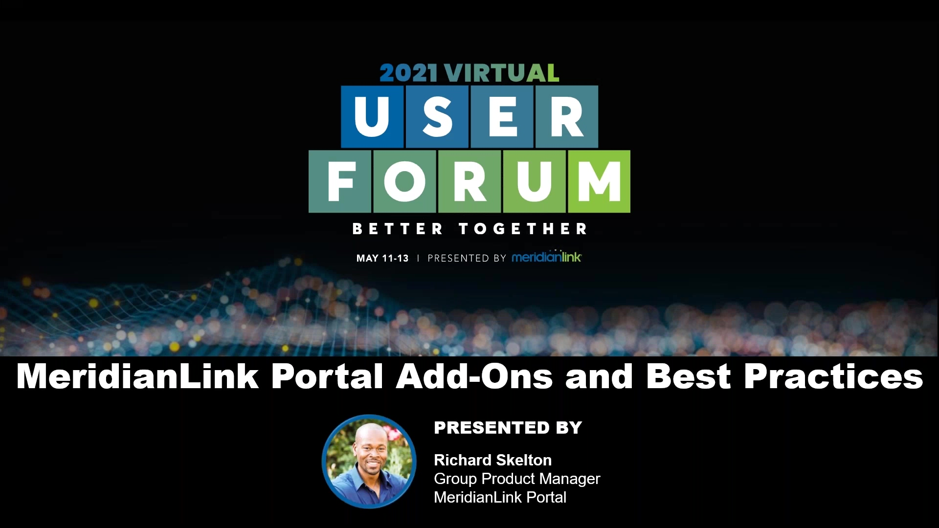 MeridianLink Portal Add-ons and Best Practices 2