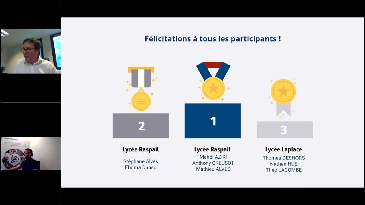 Remise des prix - Trophées Education de la Maquette Numérique