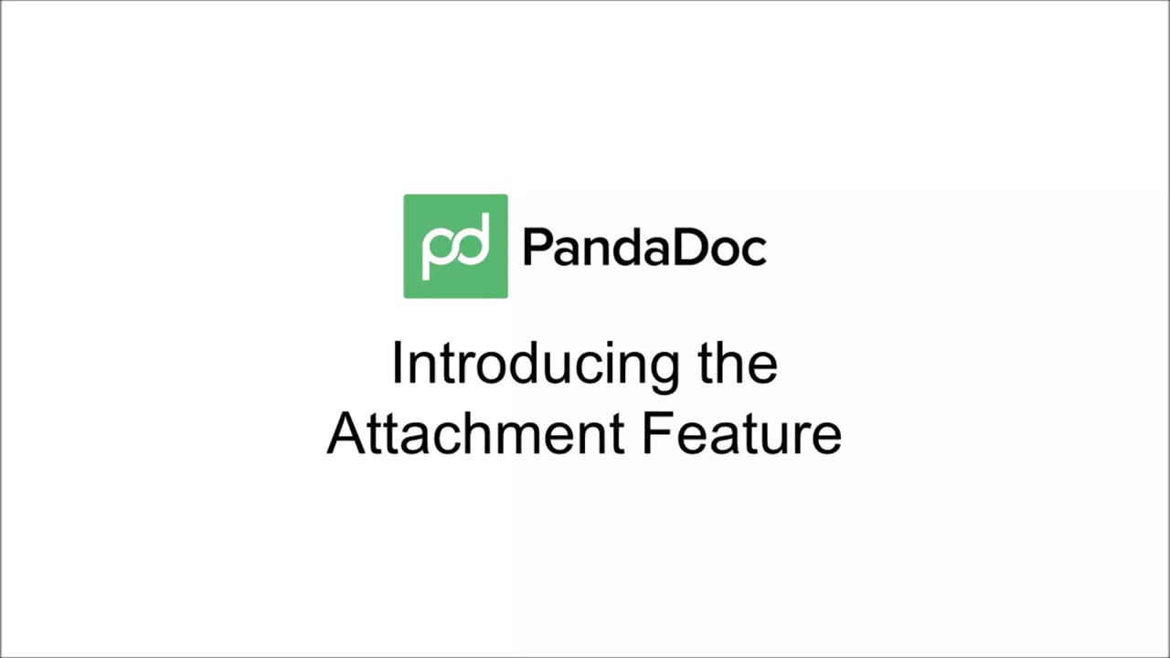 PandaDoc - Adding Attachments to Documents and Templates - June 2015