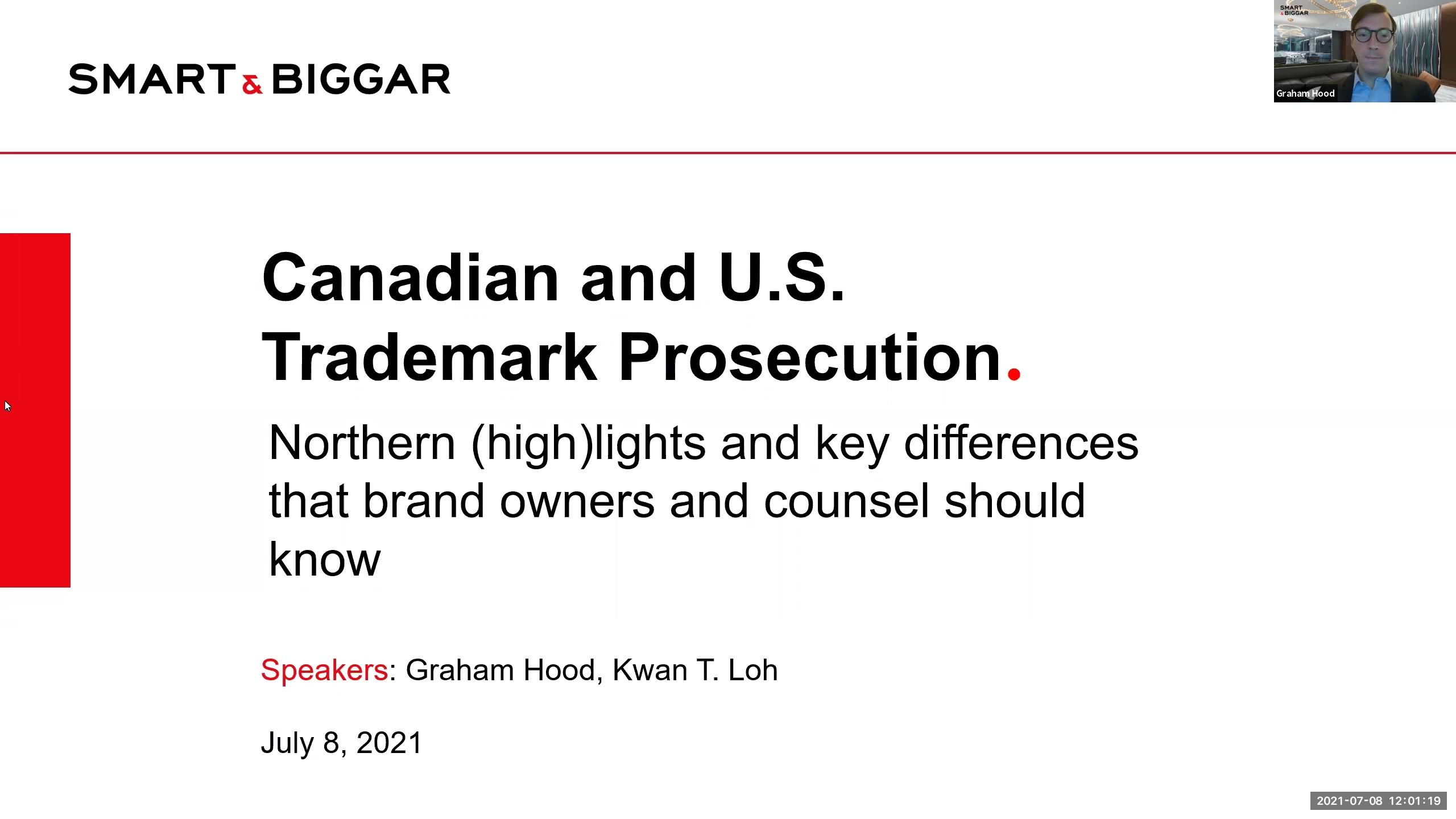 Canadian and U.S. Trademark Prosecution