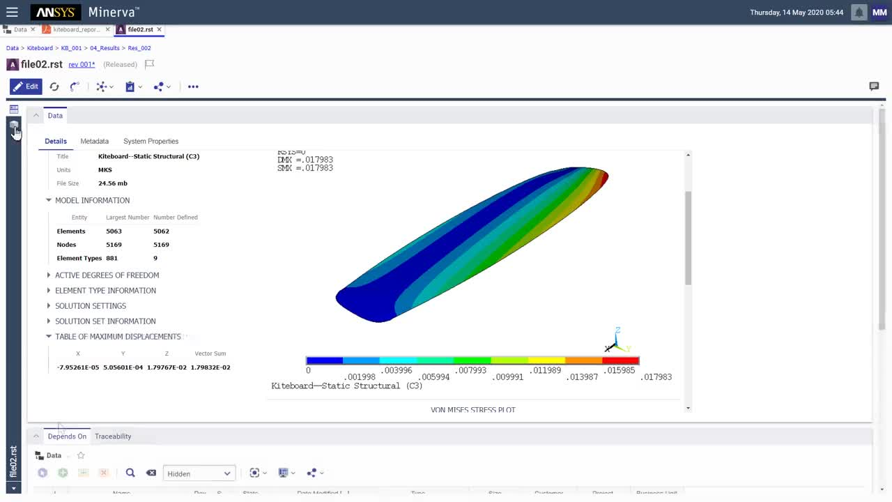 Search Trace and Reuse Simulation Data using Ansys Minerva