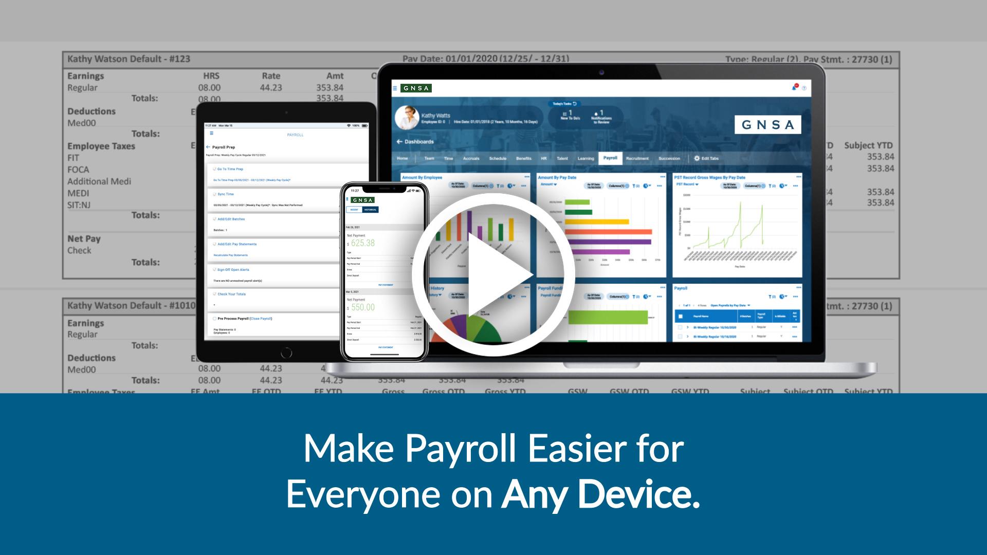 GNSA Payroll Video Overview