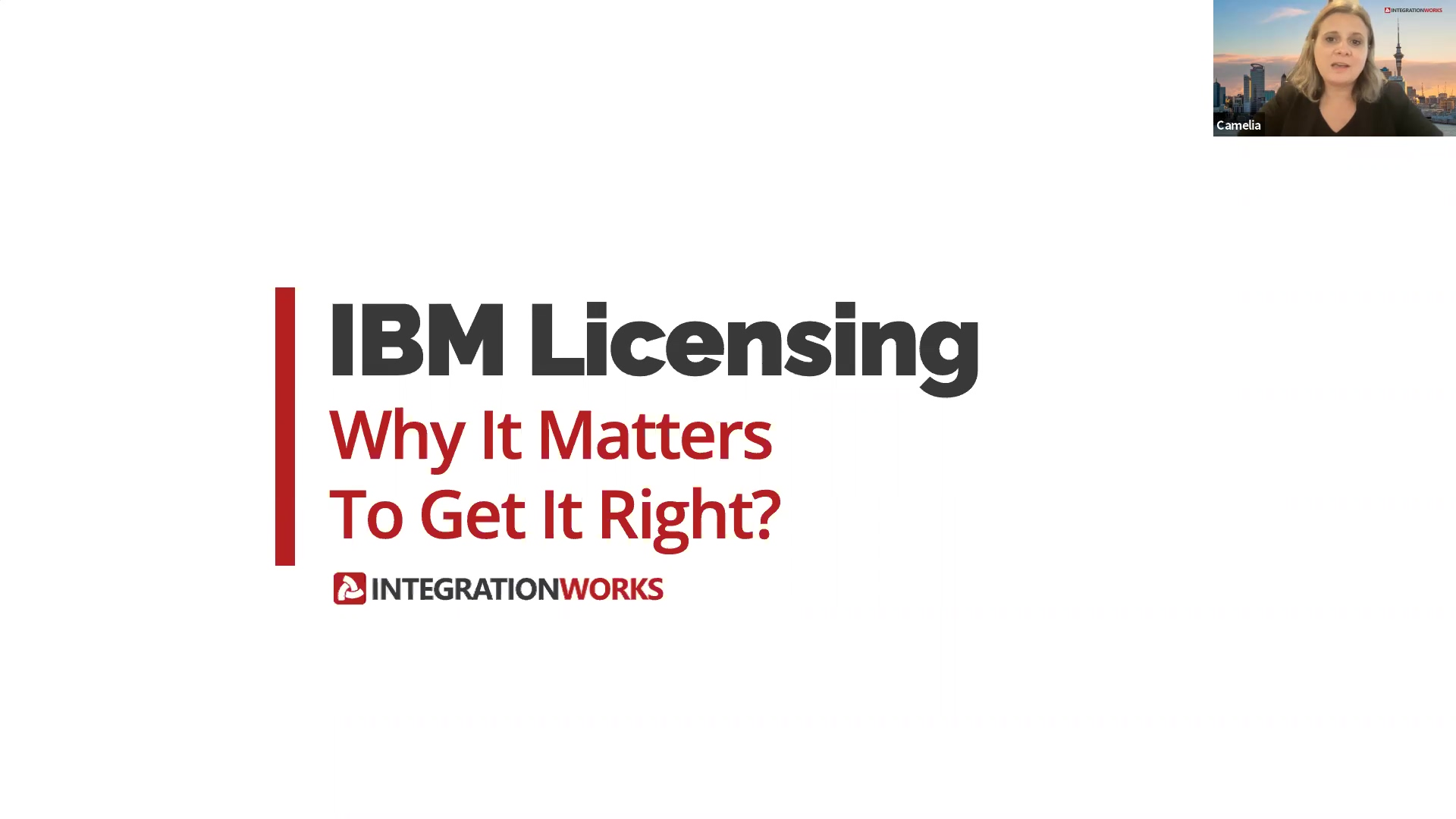 Webinar IBM Licensing - Why Does It Matter To Get It Right?