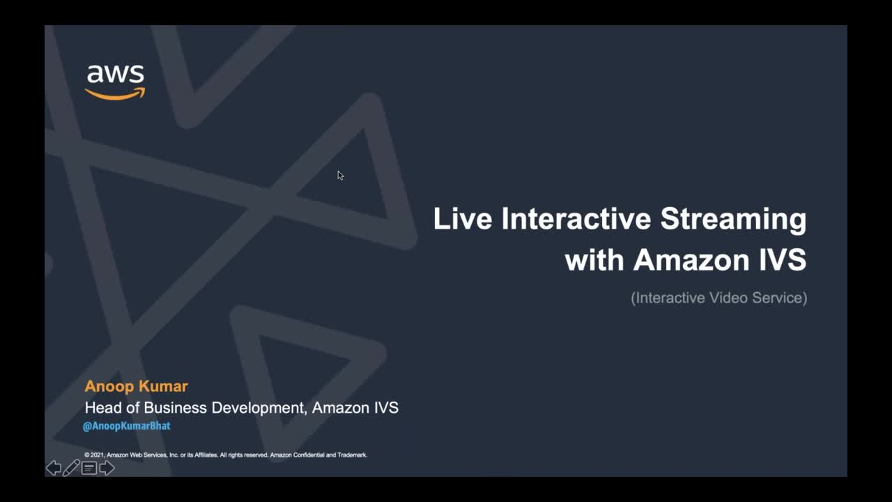 Getting Started with Amazon Interactive Video Service