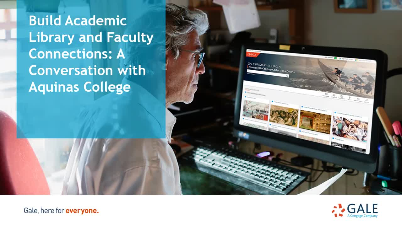 Build Academic Library and Faculty Connections: A Conversation with Aquinas College Thumbnail