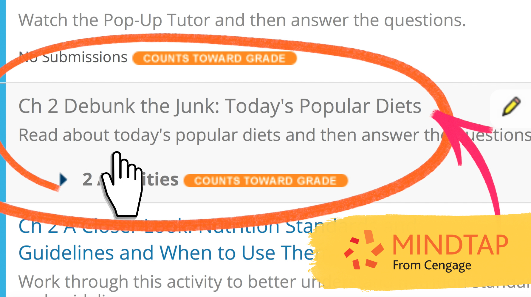 Debunk the Junk with MindTap Nutrition