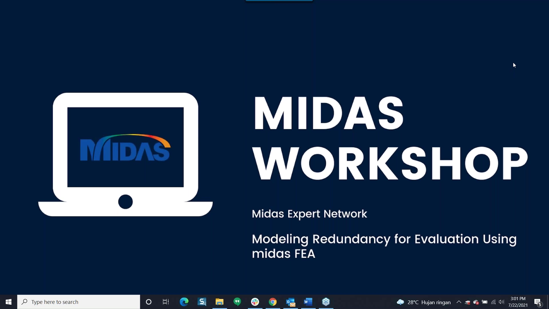 MIDAS Expert Workshop_ Modeling Redundancy for Evaluation using midas FEA