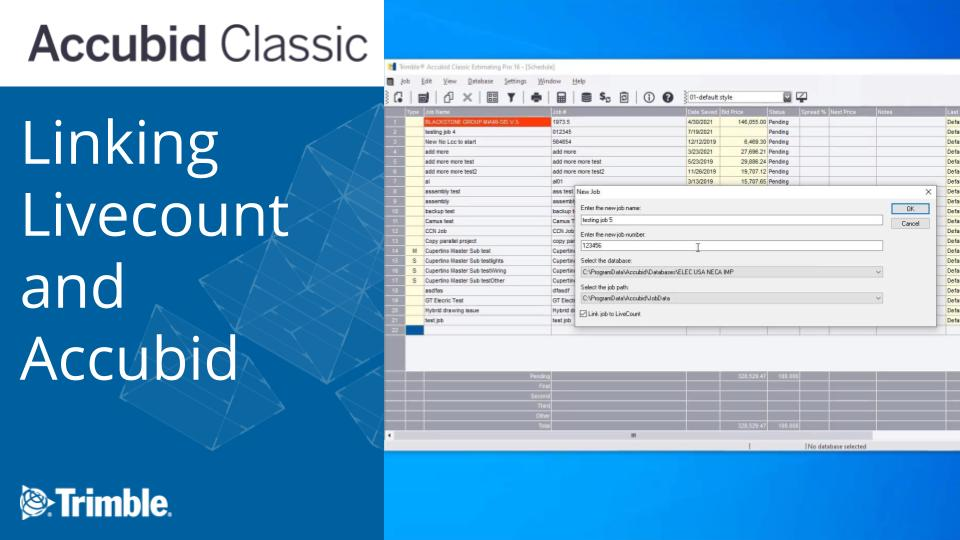Accubid: Linking Livecount and Accubid