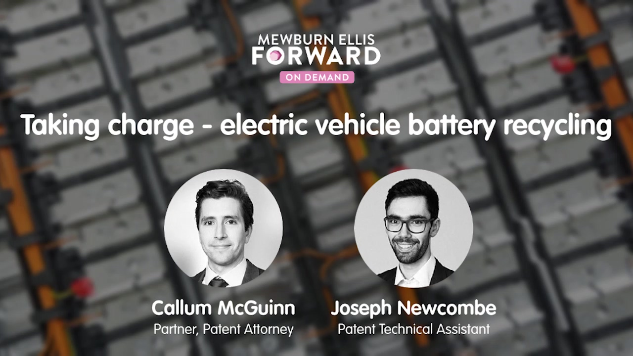 Taking charge - electric vehicle battery recycling
