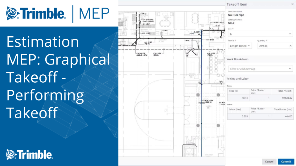 Model-Based Estimating: Graphical Takeoff - Performing Takeoff