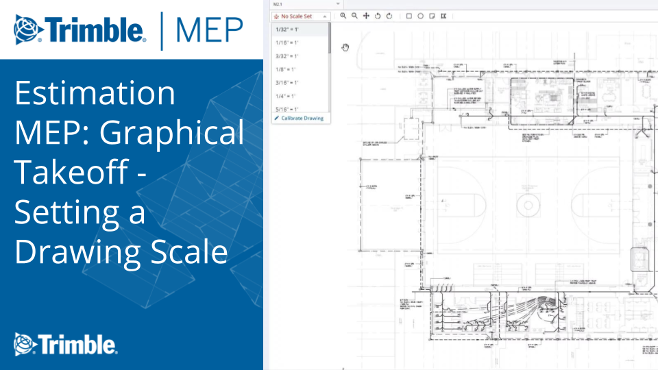 Model-Based Estimating: Graphical Takeoff - Setting a Drawing Scale