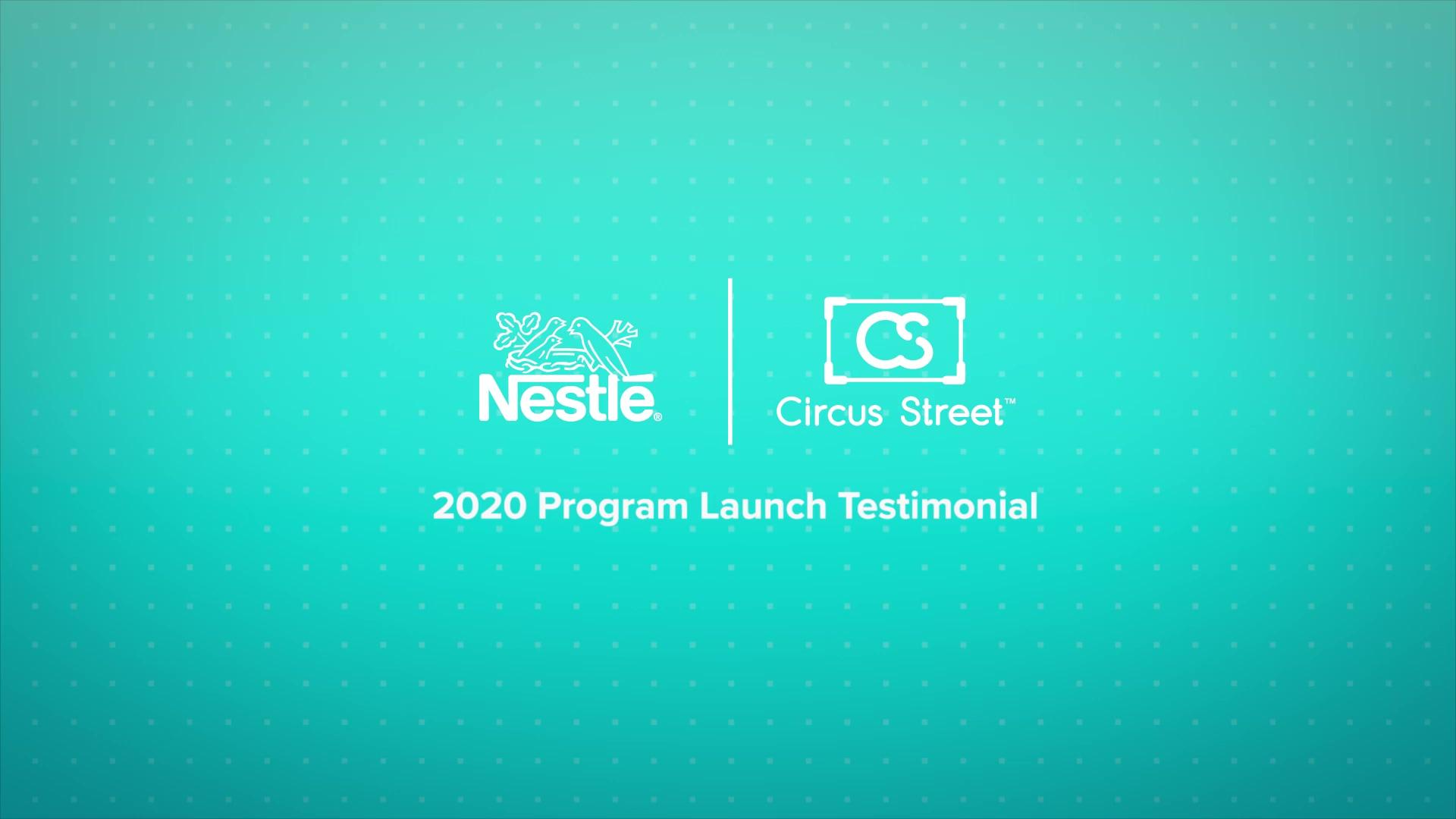 Nestle, Rosane Galvao Program Launch Testimonial 2020