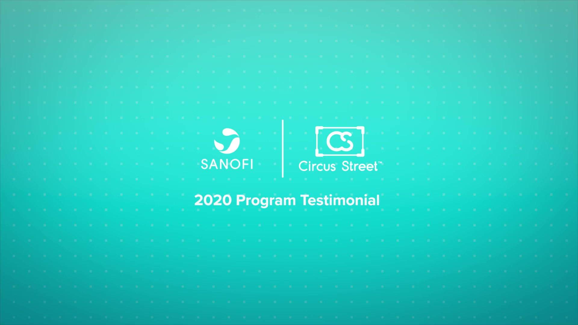 Sanofi, Jo Earl Program Testimonial 2020-1