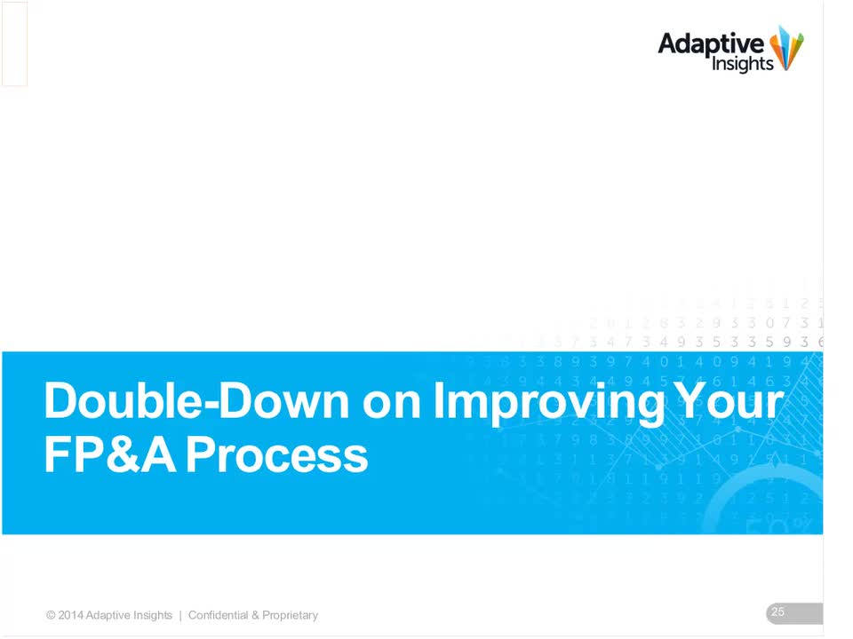 Screenshot for Double-Down on Improving Your FP&A Process
