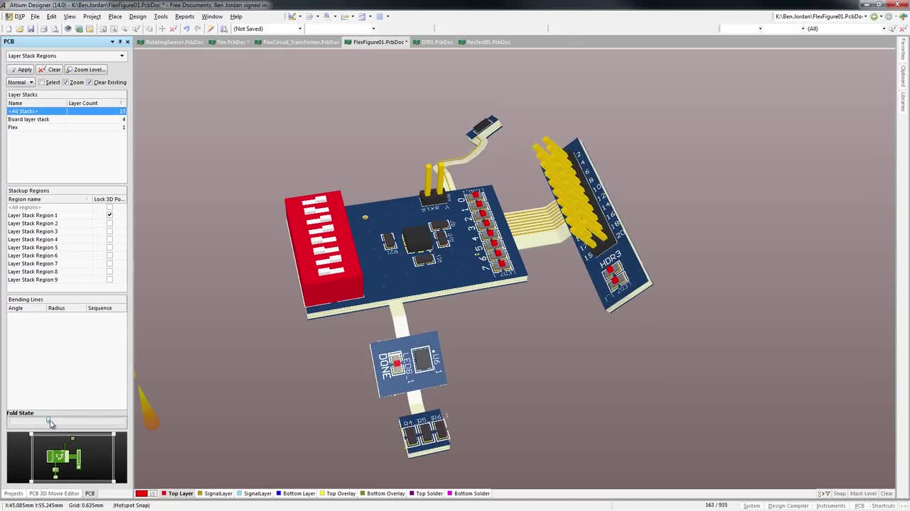 Altium Designer 18 Rigid Flex And Flexible Circuit Board Examples 3d Clearance Checking Of Mounted Components With New Support For Pcb