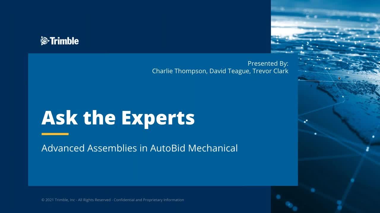Ask the Expert - Advanced Assemblies in AutoBid Mechanical