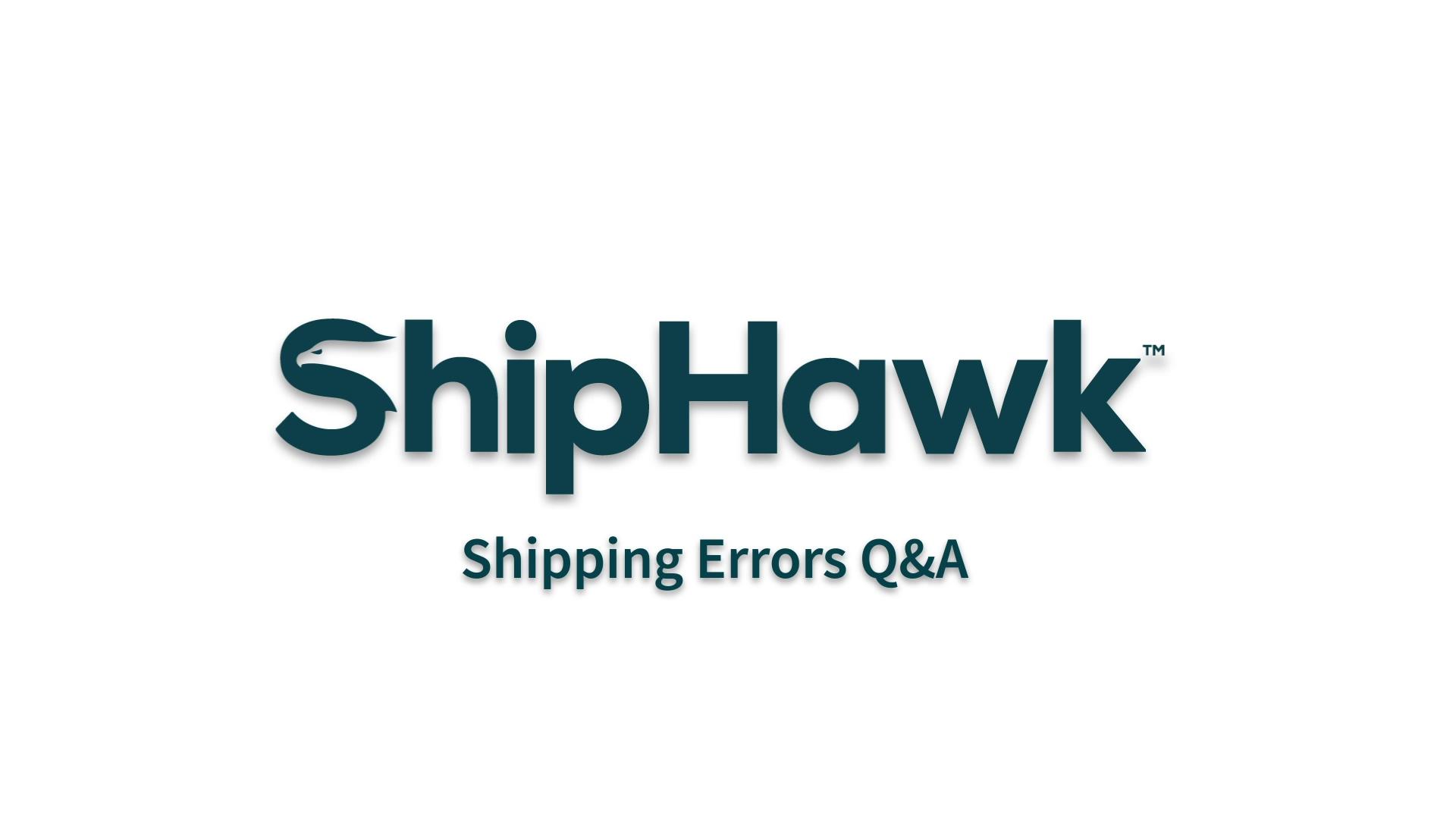 (27) ShippingErrors
