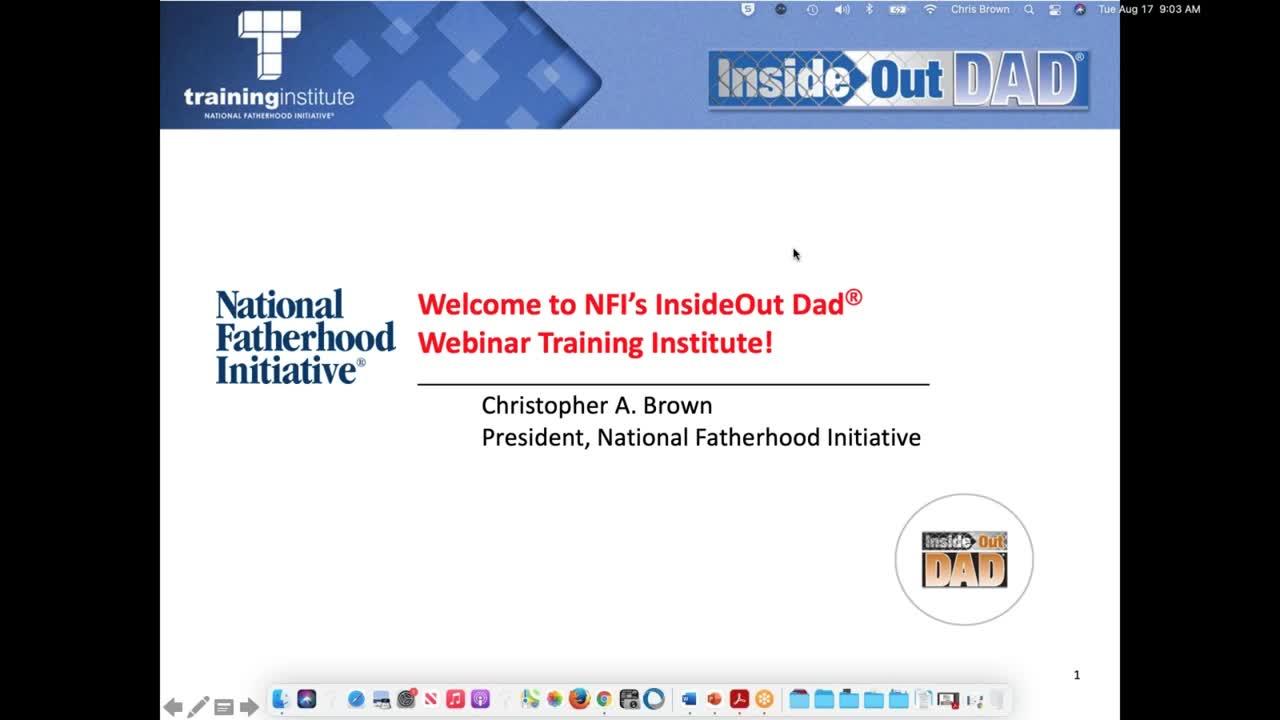InsideOut Dad® Training Webinar - August 17, 2021