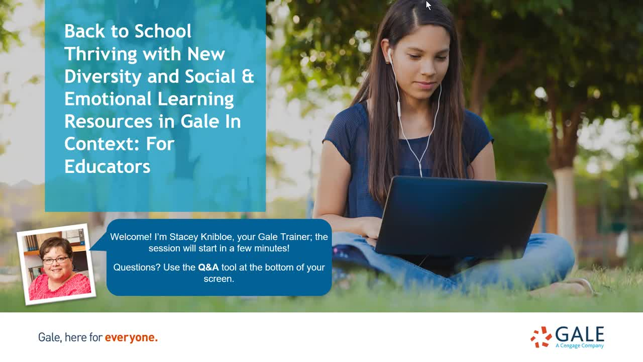 Back to School Thriving with New Diversity and Social & Emotional Learning Resources in Gale In Context: For Educators Thumbnail