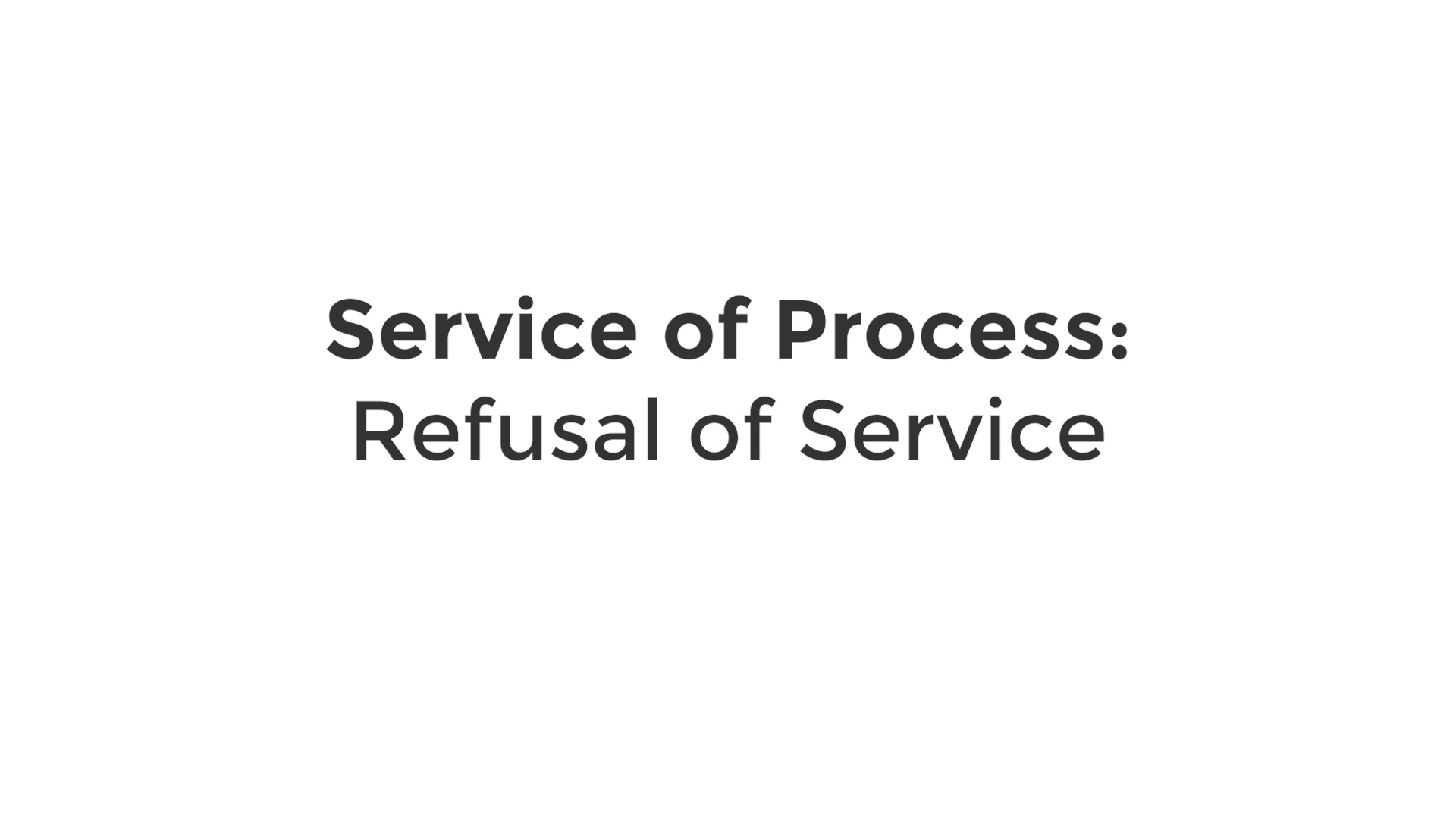 Refusal of Service