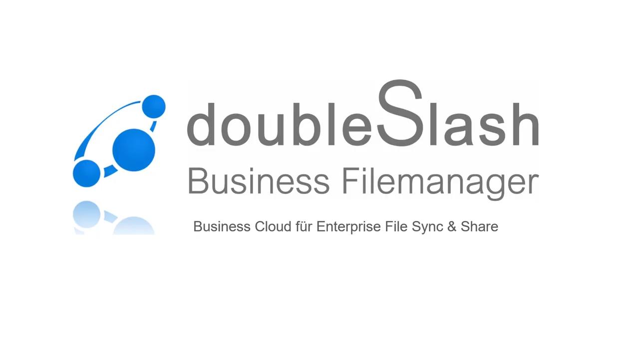 doubleSlash Business Filemanager — Die moderne Dateikommunikation