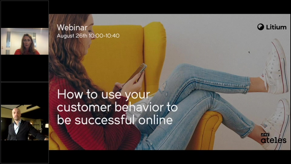 Webinar How to use your customers behavior to be successful online