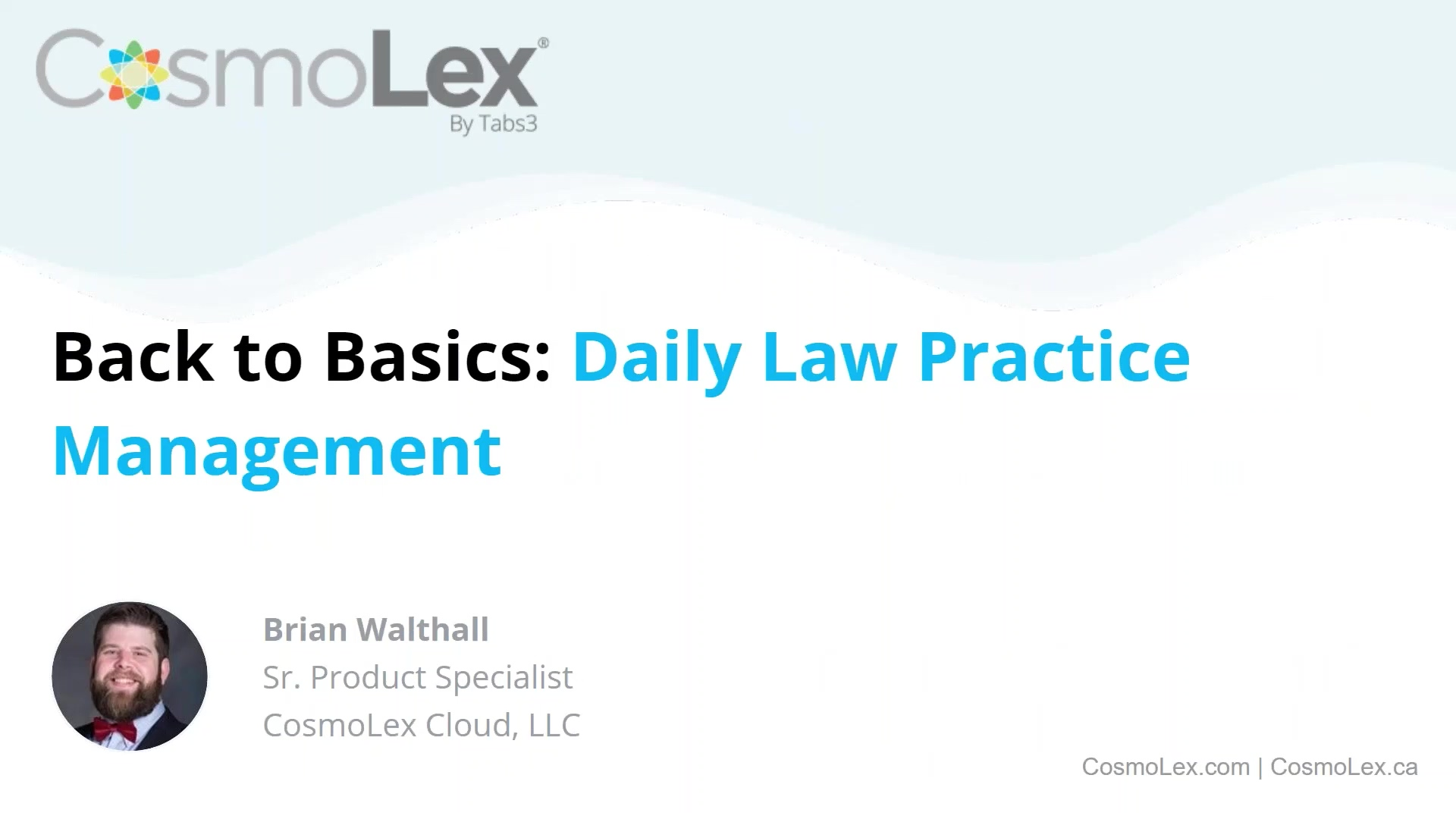 Back to Basics_ Daily Law Practice Management