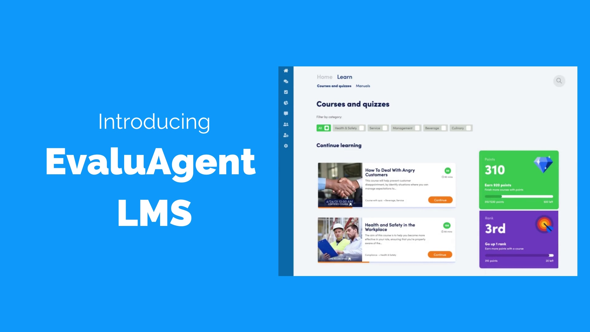 EvaluAgent LMS - Available Now