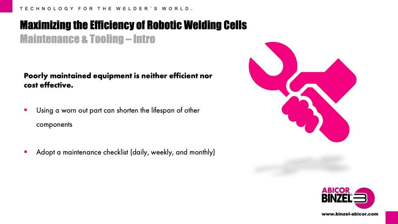 Maximizing the Efficiency of Robotic Welding Cells