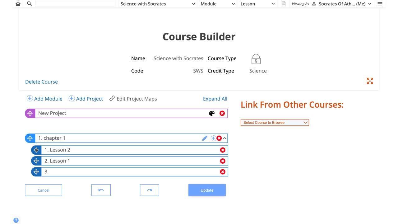 How do I customize a course - Vid1