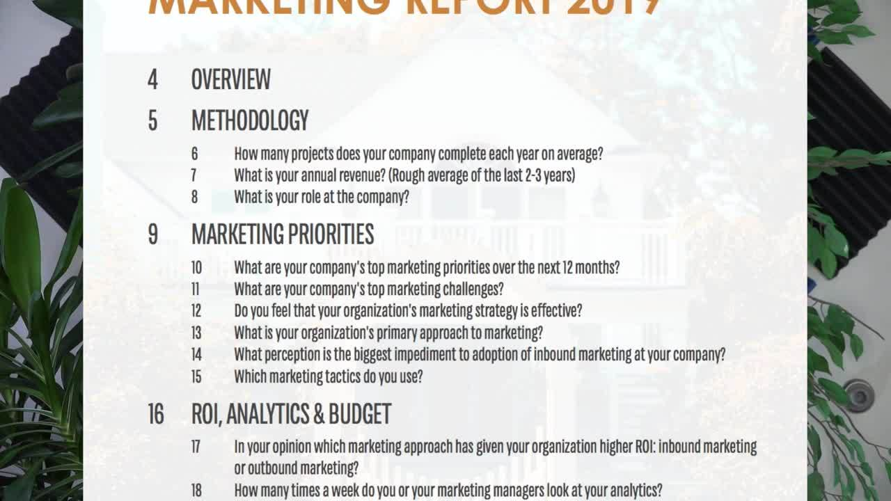 State of Home Builder Marketing Report Whats Inside