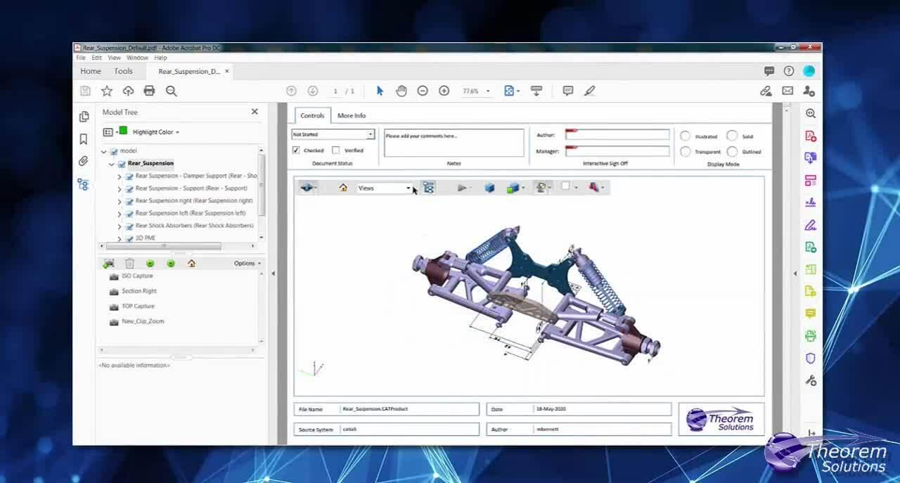 3DEXPERIENCE Save as 3D PDF
