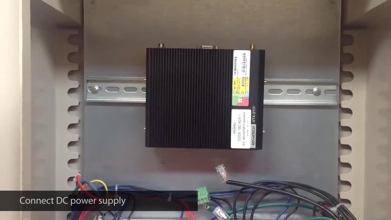 Advantech UTX-3117 gateway electrical installation