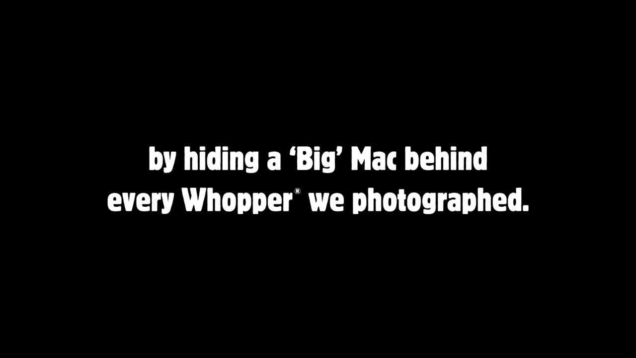 Burger King Whopper Big Mac secret