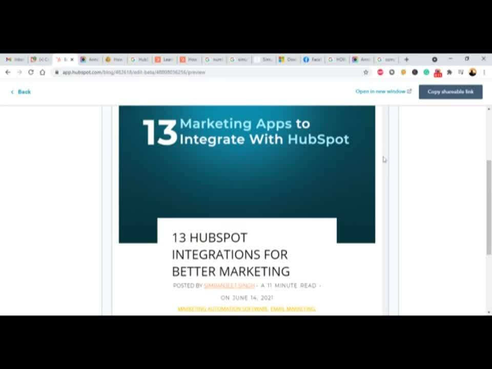 different device view hubspot webpage