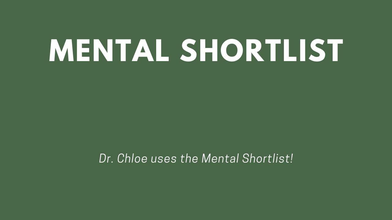 Mental Shortlist - done