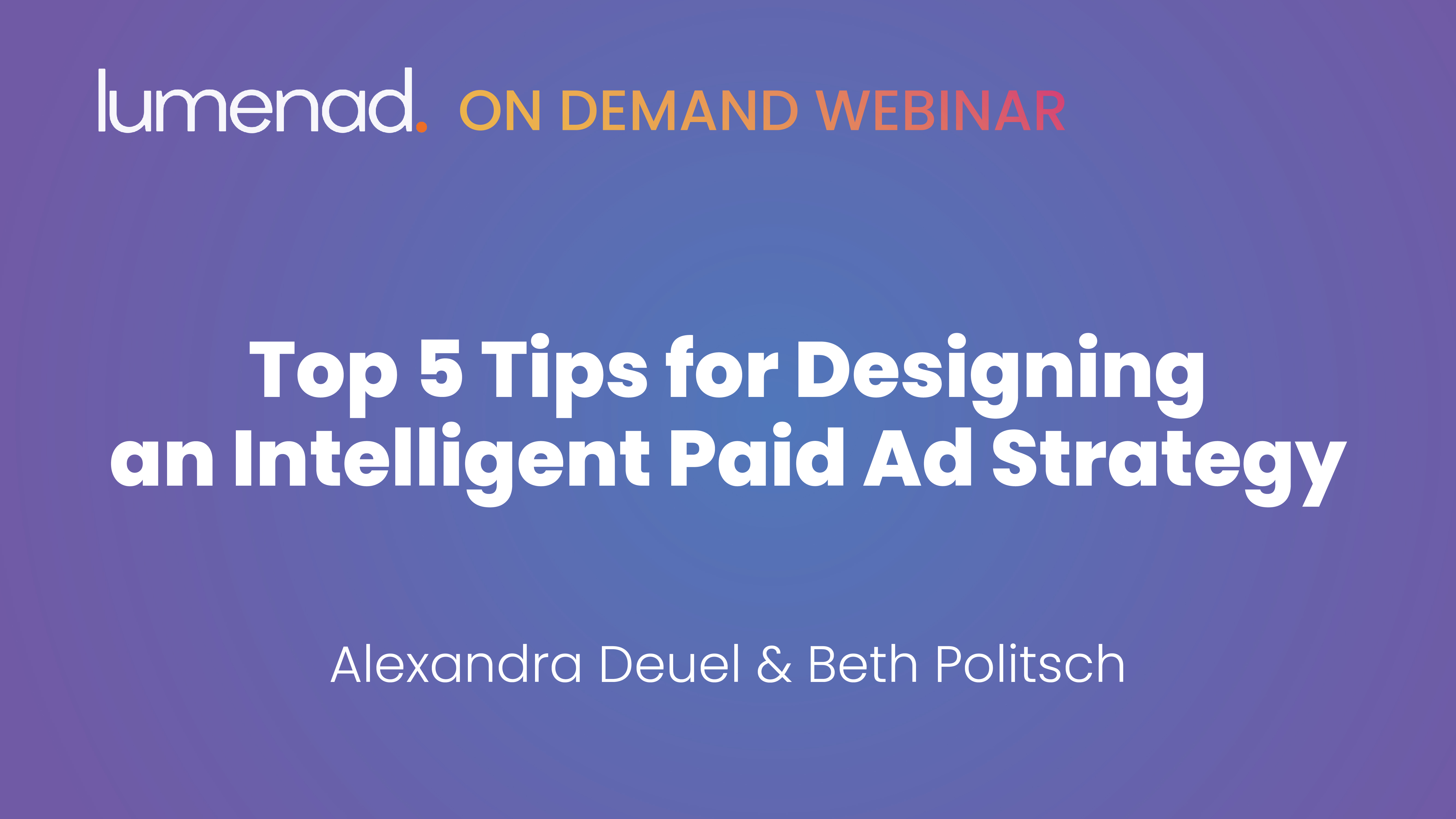 Designing an intelligent paid ad strategy banner
