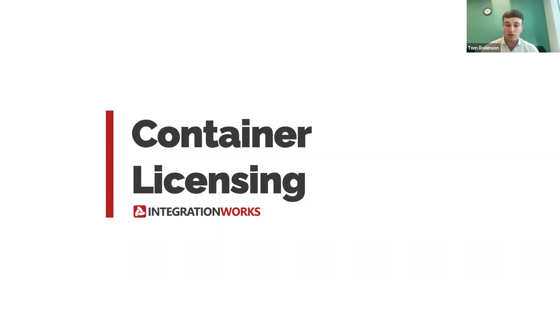 Webinar #3 - Container Licensing