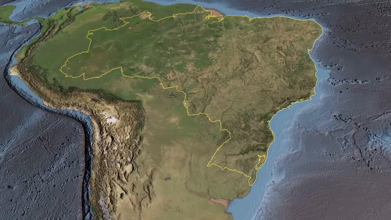 使用FME自动化以1:250000绘制巴西地图