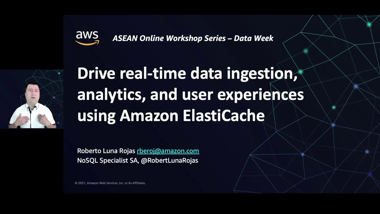 Drive real-time data ingestion, analytics and user experiences using Amazon ElastiCache