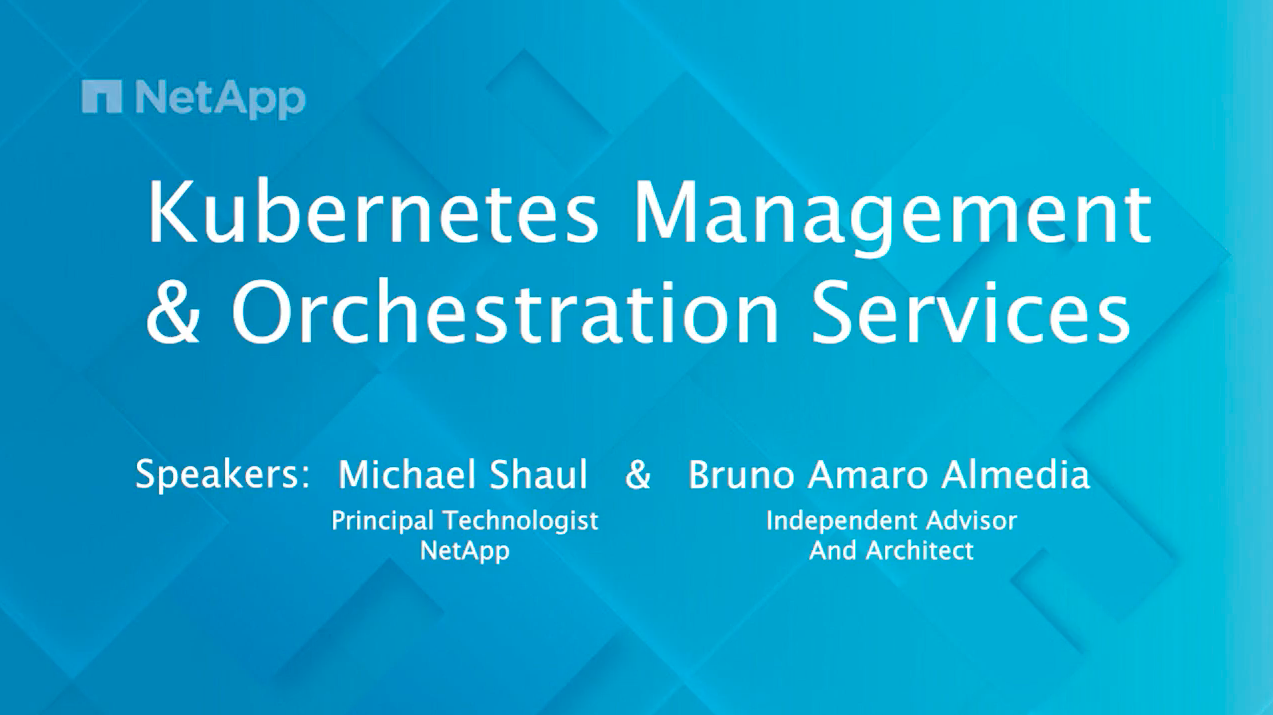 K8s Mgmt & Orchestration Services Interview Final