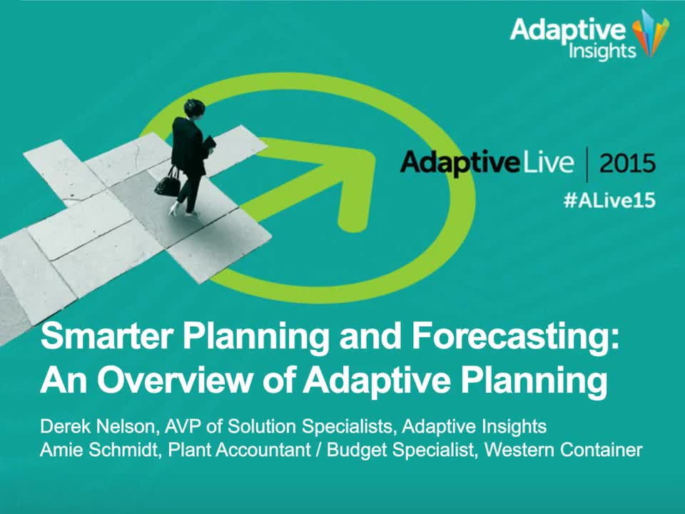Screenshot for Smarter Planning and Forecasting: An Overview of Adaptive Planning